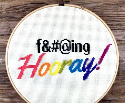 f-ing hooray cross stitch